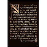 Game of Thrones - Nights Watch Oath Poster Poster Print