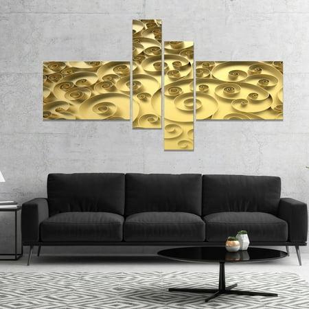 DESIGN ART Designart '3D Golden Curly Background' Abstract Canvas Art Print](3d Halloween Desktop Backgrounds)