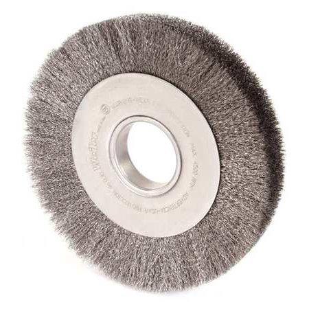 WEILER Crimped Wire Wheel Brush,Arbor,8 In. 6090 (8 Crimped Wire Wheel Brush)