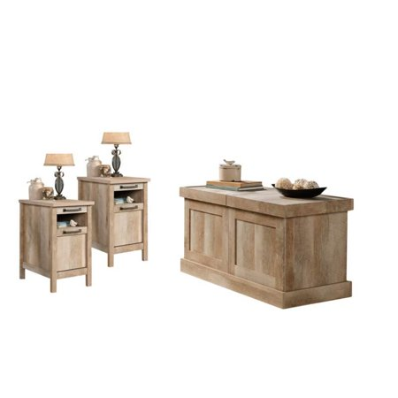 3 Piece Coffee Table Set with Coffee Table and Set of 2 End Table in Lintel