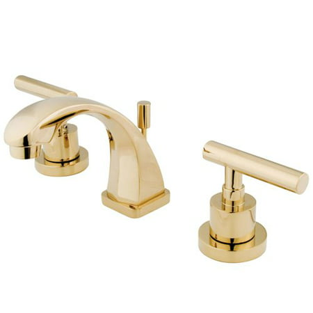 Kingston Brass Manhattan Widespread Bathroom Faucet with Drain Assembly