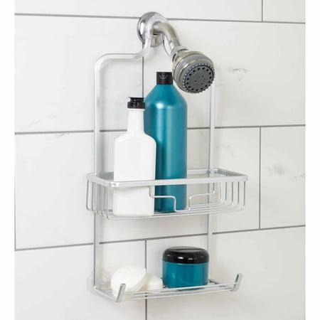 Zenna Home NeverRust Aluminum Shower Caddy with Bucket Shelf, Satin ...