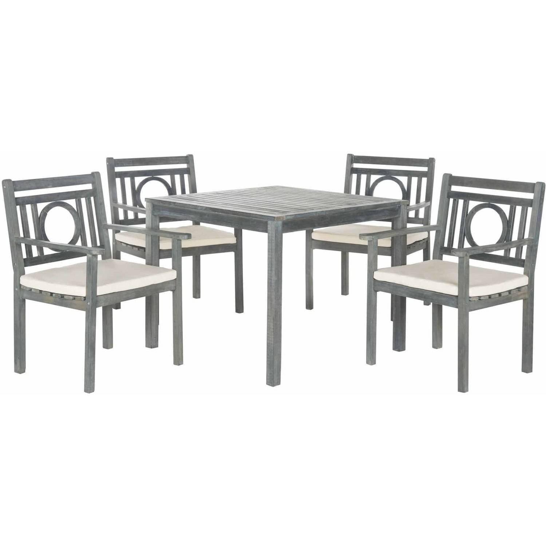 Safavieh Monclair 5-Piece Dining Set, Ash Grey