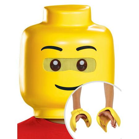 Lego Iconic Lego Guy Child Mask and Lego Iconic Lego Foam Child Hands Lego Iconic Lego Guy Child Mask and Lego Iconic Lego Foam Child Hands