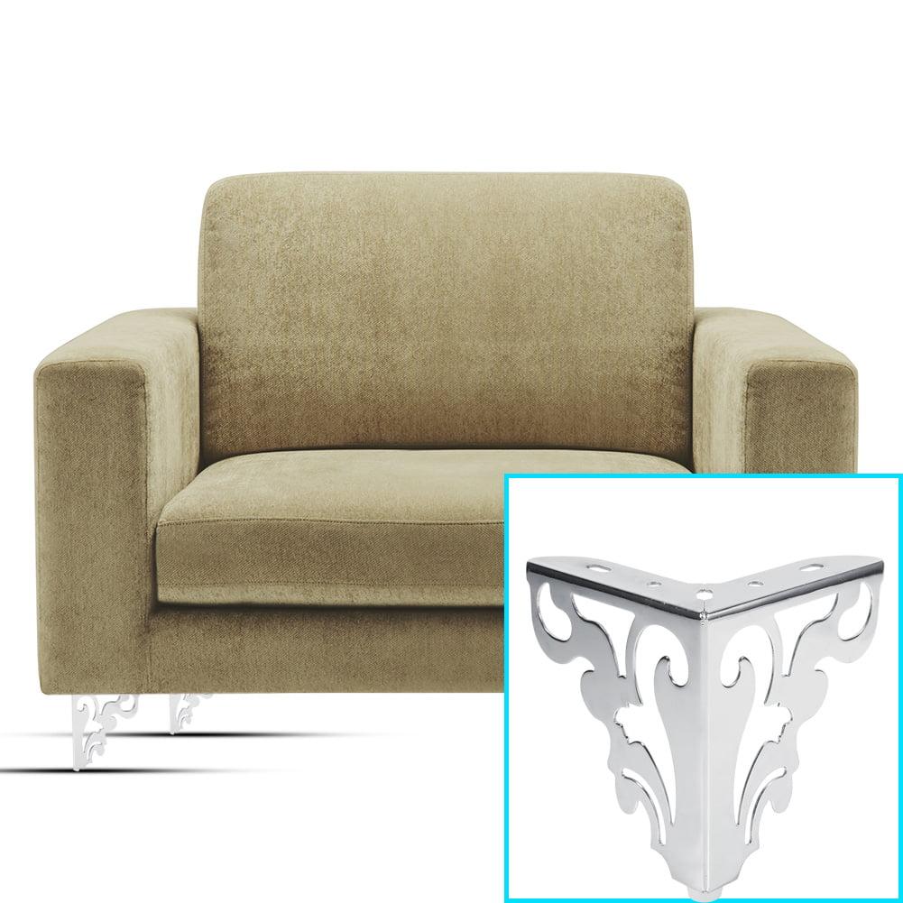 Yosoo metal polished sofa legs modern hollow patten table cabinet bed leg feet furniture accessories sofa legs metal sofa leg
