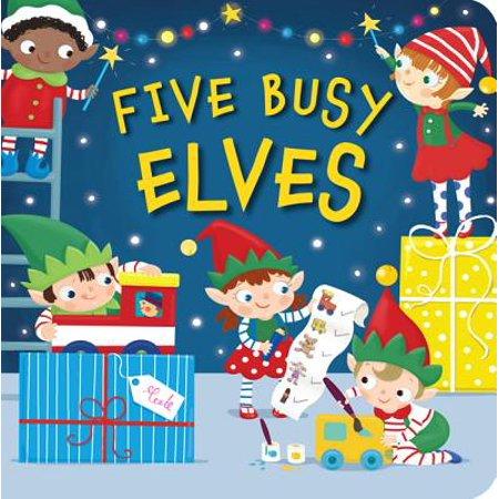 5 Busy Elves (Board Book) ()