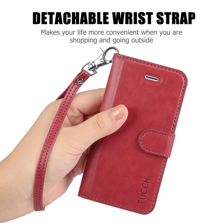 best wholesaler 6d2fe f82cf iPhone 5/5S/SE Case, TUCCH Leather Wallet Case, Premium [Slim Fit ...