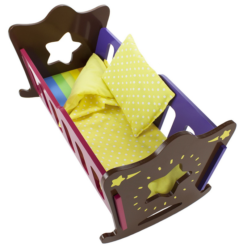 Brybelly Star Bright Doll Cradle