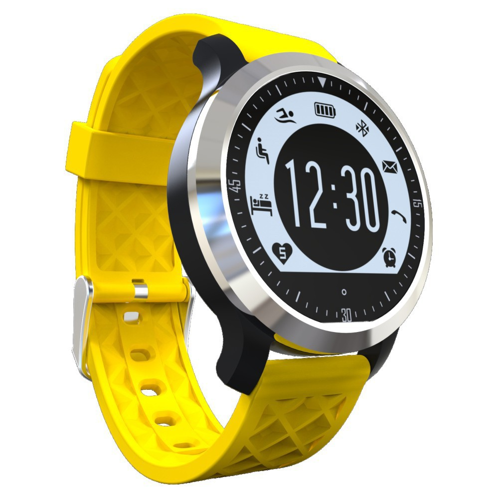 TechComm F69 Water Resistant Smartwatch & Fitness Activity Tracker With Heart Rate Monitor