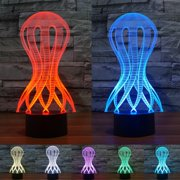 3D Illusion Jellyfish LED Night Light 7 Colors Gradual Changing Touch Switch USB Table Lamp for Kids Gift