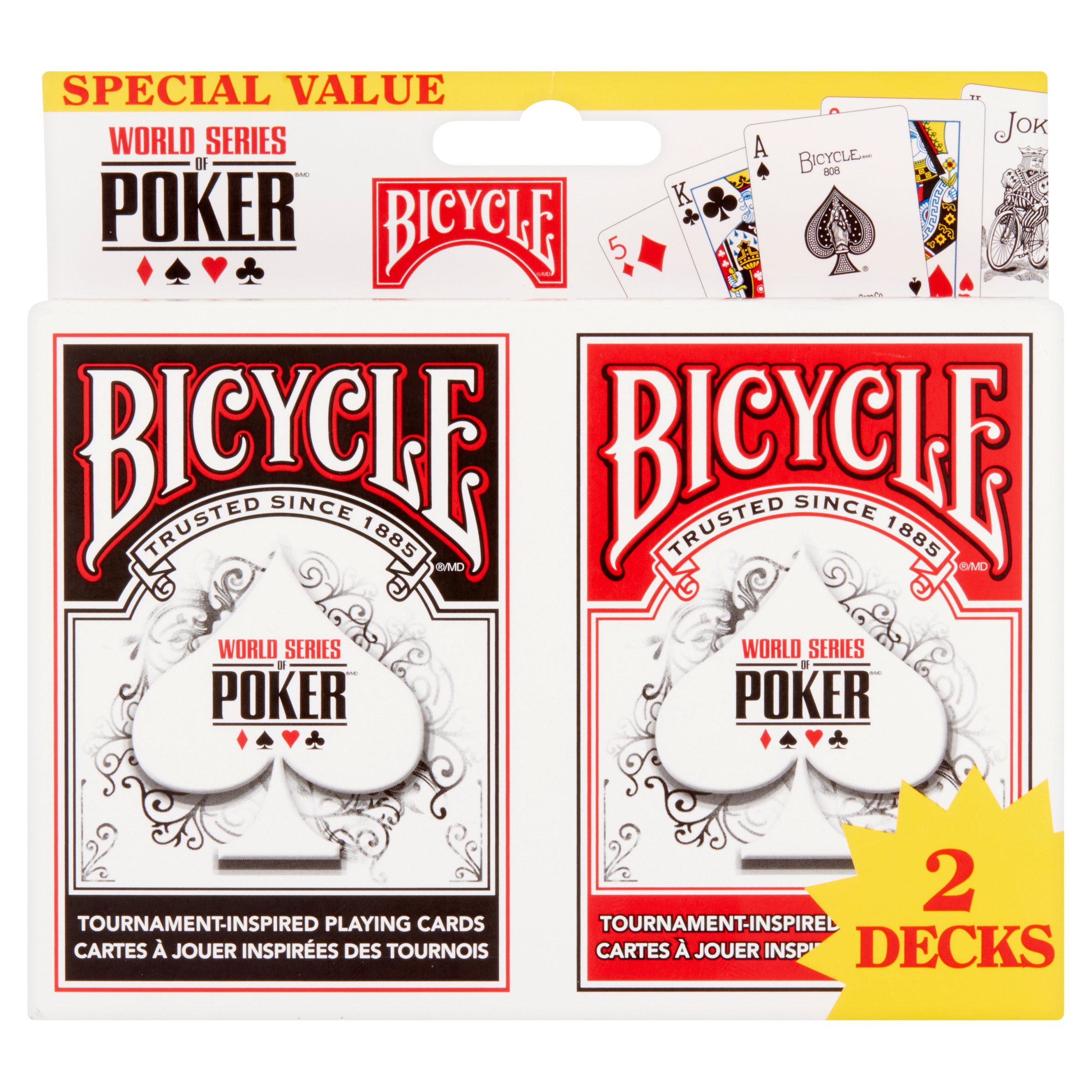 Bicycle Tournament-Inspired Playing Cards Special Value, 2 count