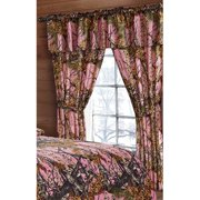 The Woods Pink Camouflage 5pc Curtain Set by Regal Comfort For Hunters Cabin or Rustic Lodge Teens Boys and Girls (Curtain , Pink)
