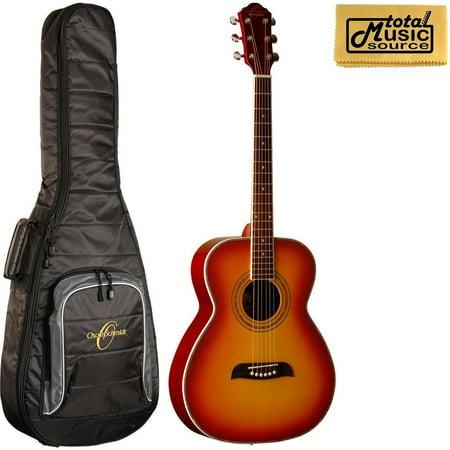 Oscar Schmidt OF2 Folk-Size Acoustic Guitar - Cherry Sunburst W/Gigbag, OF20CS BAG