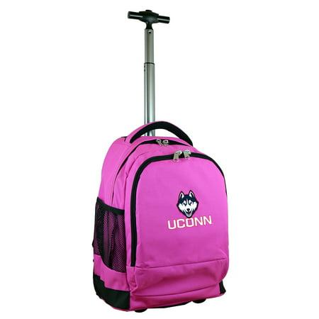 UConn Huskies 19 Premium Wheeled Backpack - Pink