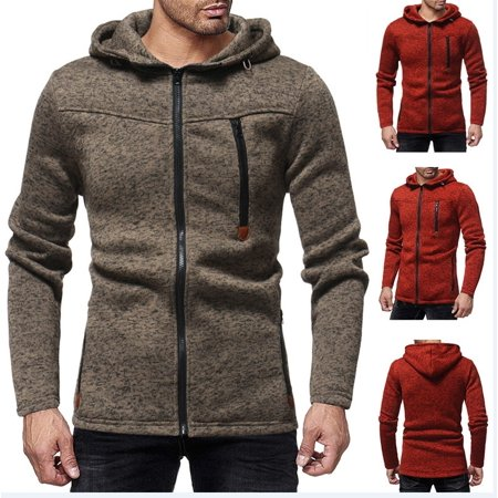 Mens Cable Knit Jumper (Fashion Men´s Warm Long Sleeve Jacket Full Zipper Knitted Jumper Cardigan Sweater Tops Coat )