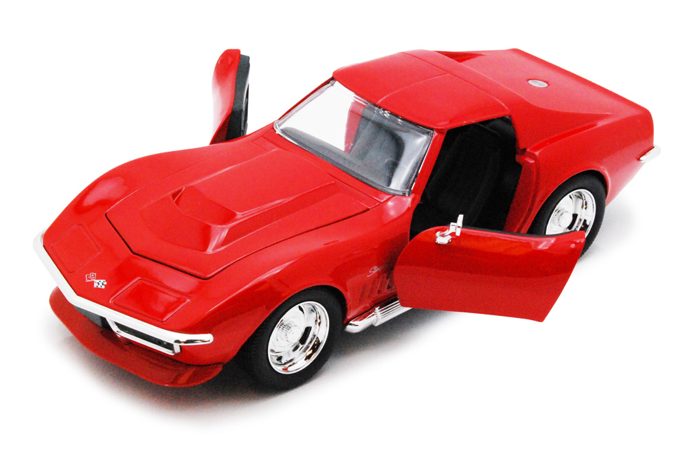 1969 Chevy Corvette Stingray ZL-1, Red Jada Toys Bigtime Muscle 96887 1 24 scale Diecast... by Jada