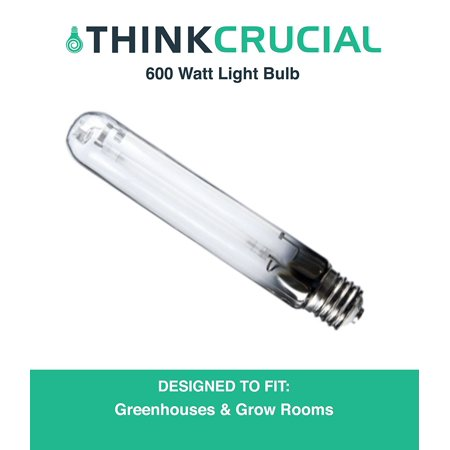 600 Watt HPS Premium Grow Bulb for Grow Lamps, Great for Indoor Gardening Fruits, Vegetables, Plants & More, Mimics Natural Sunlight, by By Think Crucial ()