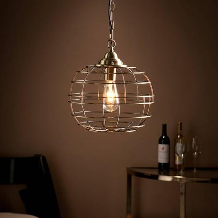 - Southern Enterprises Nate Edison Cage-Style Pendant Light, Bronze