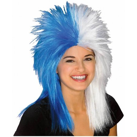Adult Blue and White School and Team Spirit Sports Fanatix Wig](Team Rocket Wigs)
