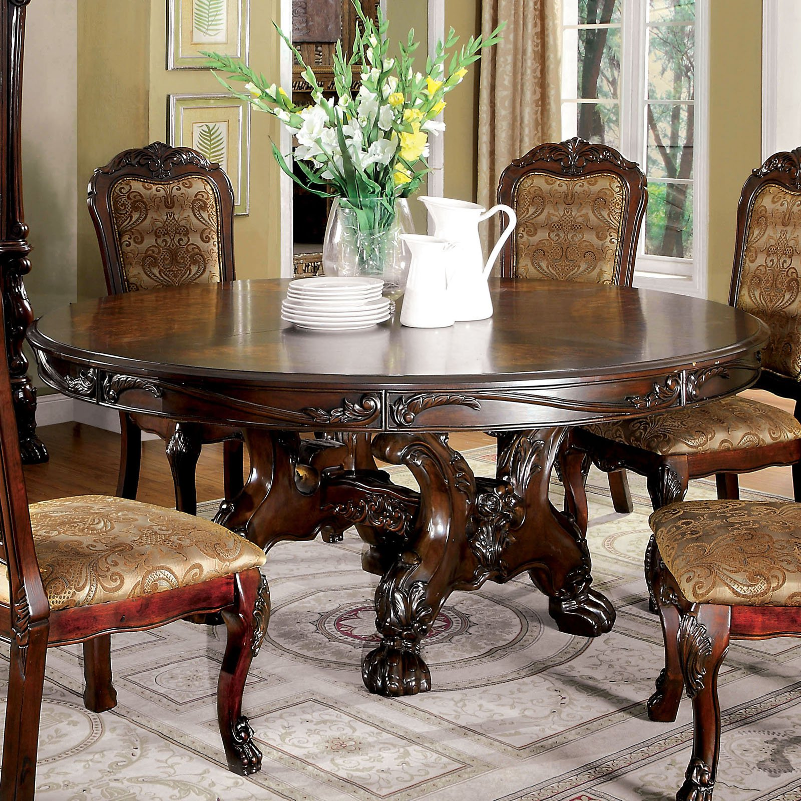 Furniture of America Evangeline Elegant Dining Table