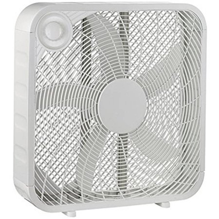 20  White Box High Velocity Fan With 3 Setting Speeds For Air Flow  Smart And Energy Efficient