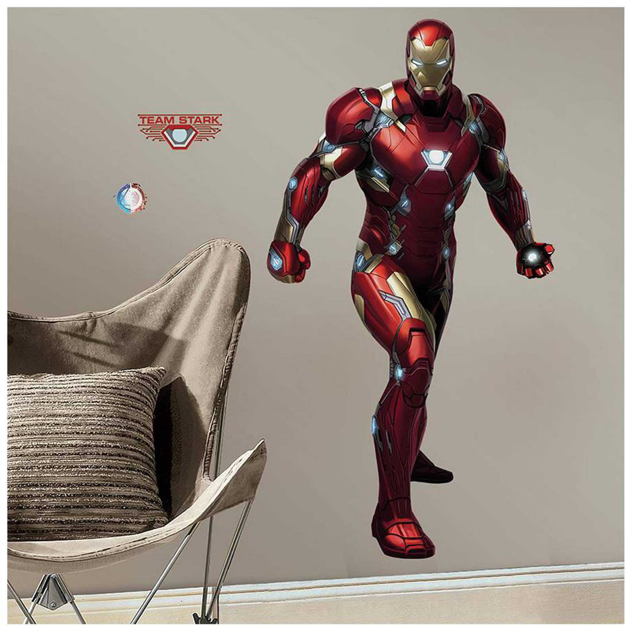 RoomMates Decor Captain America: Civil War Iron Man Peel And Stick Giant Wall  Decals   Walmart.com