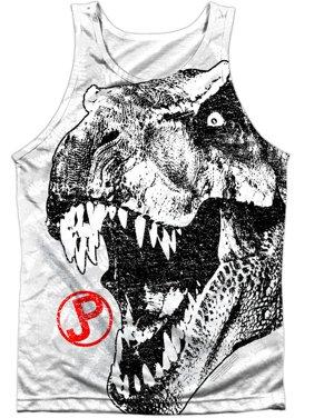 08097914ed399 Product Image Jurassic Park Men s T Rex Head Mens Tank White