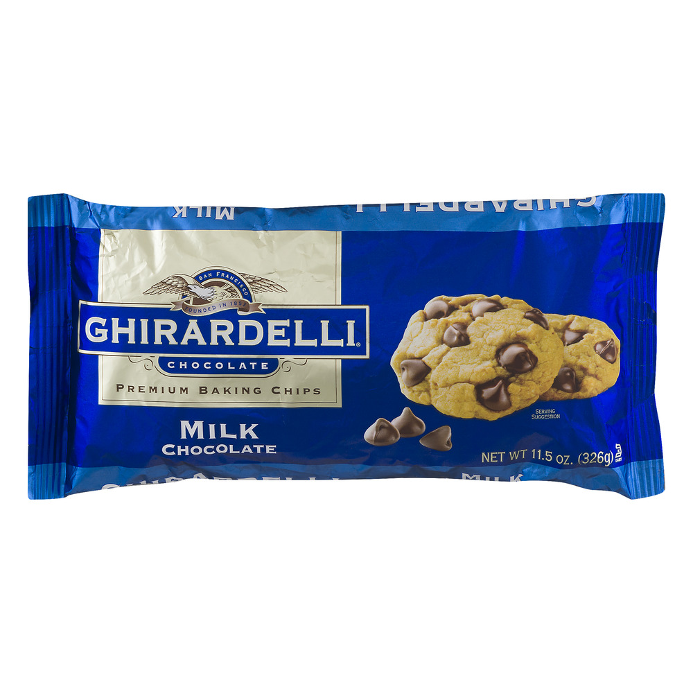 Ghirardelli Chocolate Milk Chocolate Baking Chips, 11.5 Ounce by Ghirardelli Chocolate Company