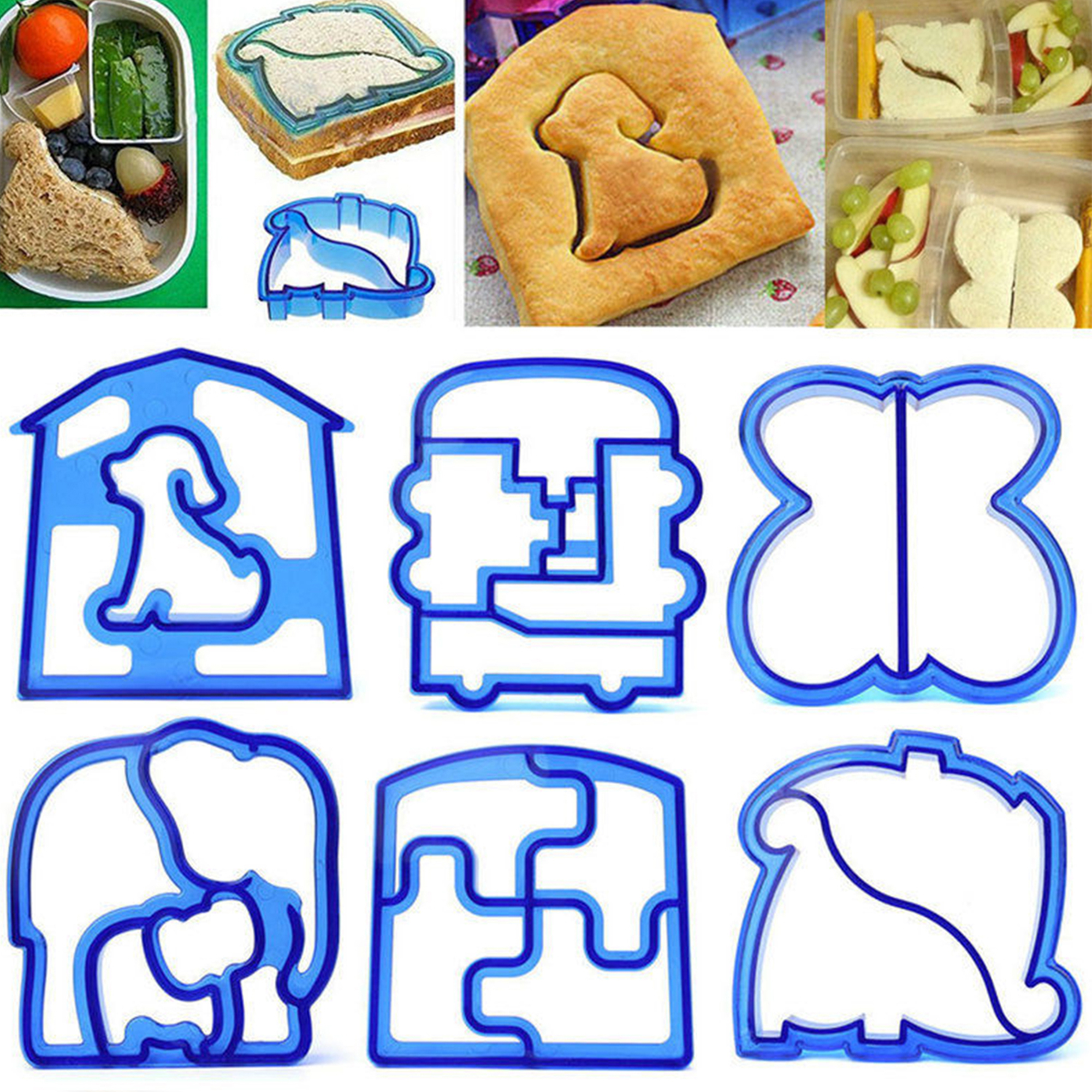 CUH Sandwich Toast Cookies Cutters Cake Bread Biscuit Food Mold Mould Dinosaur