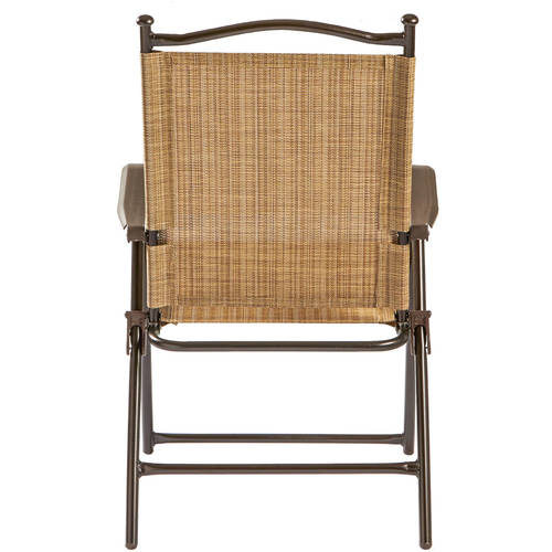 Sling Black Outdoor Chairs, Bamboo, Set Of 2 Image 3 Of 5