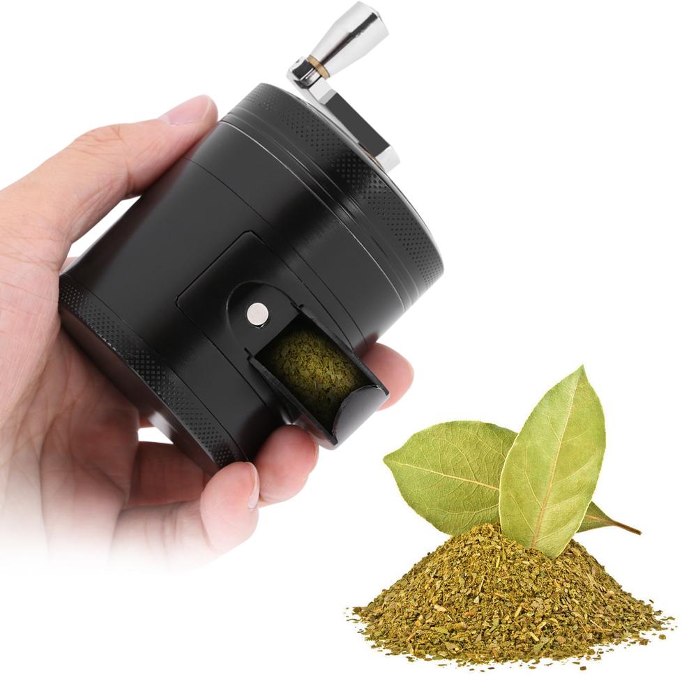 Manual 2.3 Inch Herb Grinder Zinc Alloy Spice Herb Grinder Kitchen Grinder New