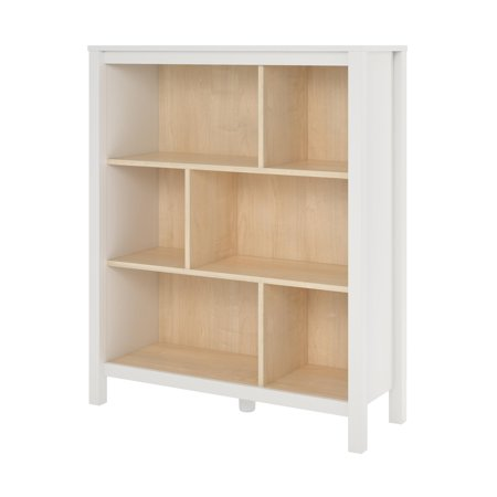and beginnings bookcase shelves bookcases open sauder pin soft white organizations shelf