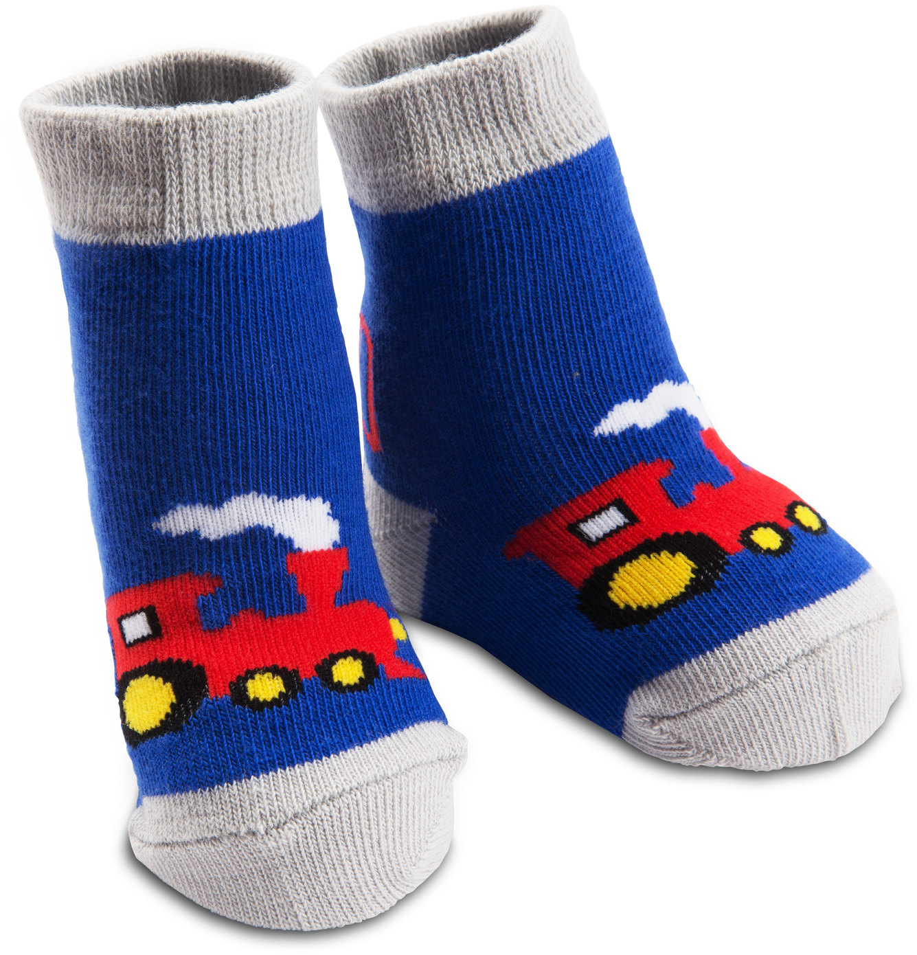 Izzy & Owie - Blue Train Baby Socks 0-12 Months