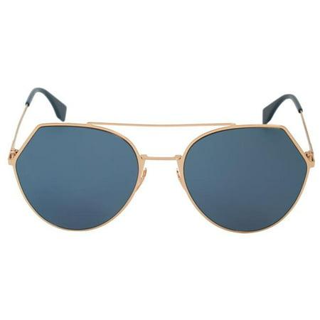 Fendi FENDI-SUNG-FF0194S-000-2A-55 55-19-140 mm Eyeline Pilot Sunglasses, Blue