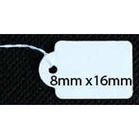 PAPER STRING TAGS WHITE 8mmX16mm