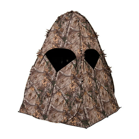 Ameristep Stand Hunting Blinds - Ameristep 1RX1S008 Camouflage Tall Hunting Outhouse Spring Steel Ground Blind