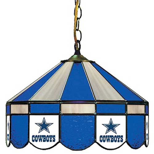 NFL Dallas Cowboys Lamp   Stained Glass 16 Inch