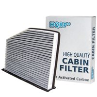 HQRP Activated Carbon / Charcoal Air Cabin Filter for Volkswagen VW Jetta 2009 2010 2011 2012 09 10 11 12 + HQRP UV Meter