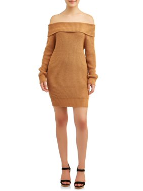 No Comment Juniors' Marilyn Neck Sweater Dress