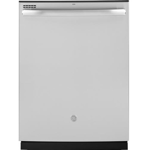 """GE Stainless Steel GDT605PSMSS 24"""""""" Built-In Dishwasher with 16 Place Settings 4 Bottle Wash Jets Steam Prewash 3-Level 600 Series Wash System Piranha Hard Food Disposer in Stainless Steel"""