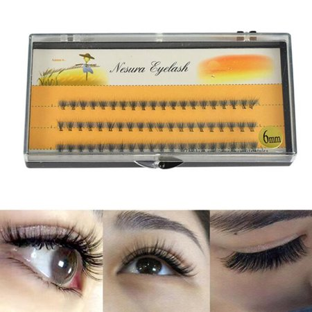 60pcs Individual Black Natural False Eyelash Cluster Eye Lashes Extension Fashion