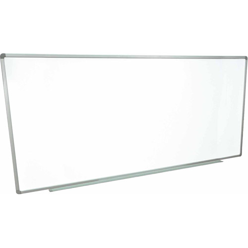 """Luxor Magnetic Wall-Mounted Dry Erase Board, 96"""" x 40"""", Silver Aluminum Frame"""