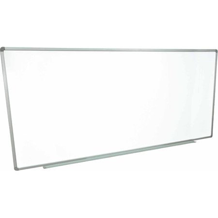 luxor wall mounted magnetic whiteboard 96x 40 aluminum frame - Magnetic White Board