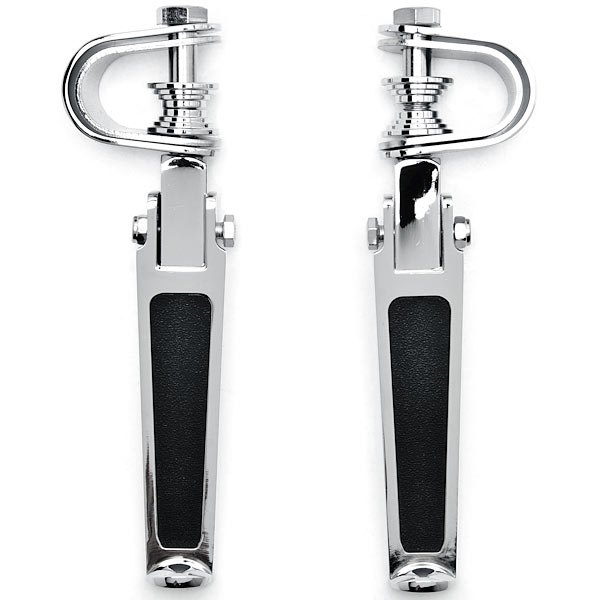 Chrome AntiVibrate Engine Guard Foot Pegs + Clamps For Suzuki Intruder Volusia VS 700 750 800 1400 1500 - image 2 of 4