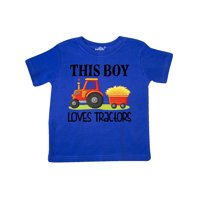 Farming Cute Boy Loves Tractors Toddler T-Shirt