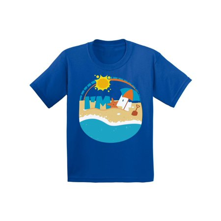 Awkward Styles Beach Themed Party Gifts for 4 Year Old Funny Party Fourth Birthday Gifts for 4 Year Old I am Four 4th Birthday Toddler Shirt for Kids 4th B Day Party Shirt for Boys Shirts for
