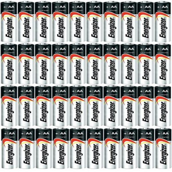 Energizer AA Max Alkaline E91 Batteries Made in USA Expiration 12/2024 or later 40 count