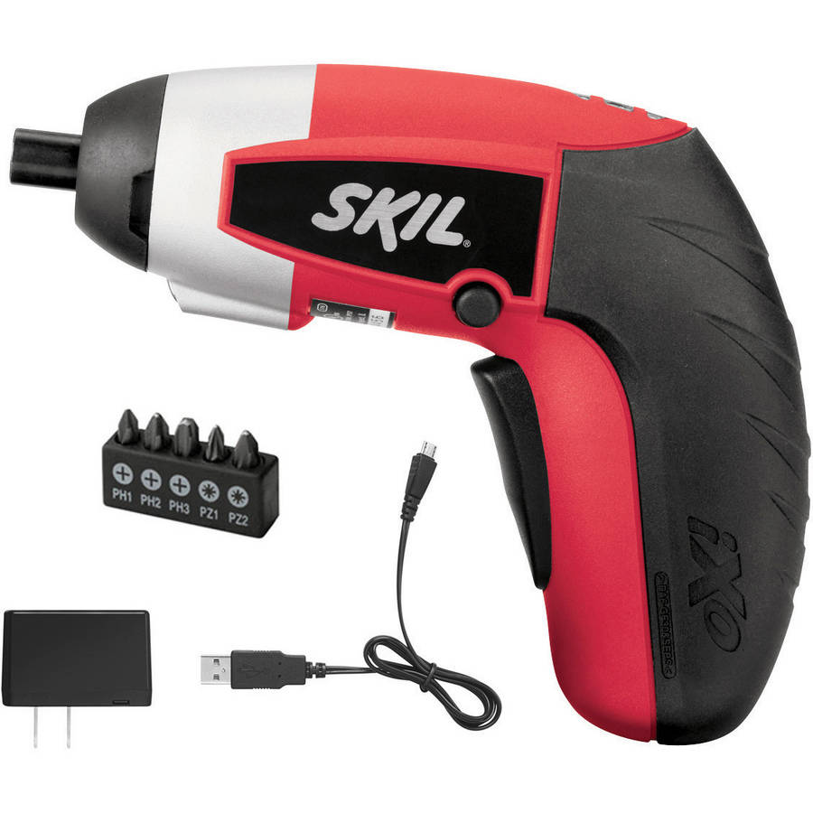 SKIL 4V Max Lithium-Ion iXO Screwdriver Kit with 5pc Bit Set