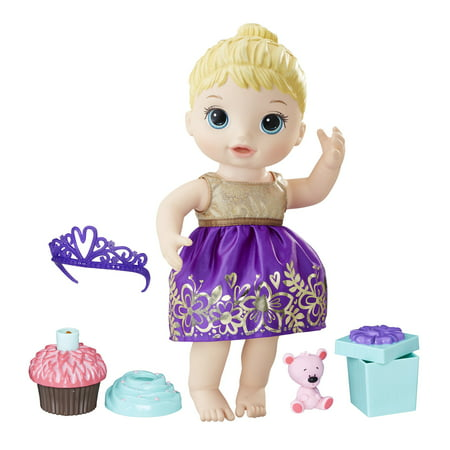 Baby Alive Cupcake Birthday Baby, Blonde Hair, Ages 3 and (Girls Blonde Hair)
