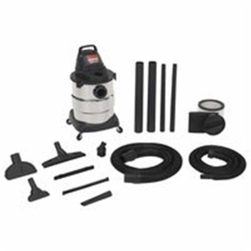 Shop-Vac 677-6000110 Industrial Single-Stage Wet & Dry Vacuum With Accessories, 7 ft.  Hose, 9 A - 6 gal.